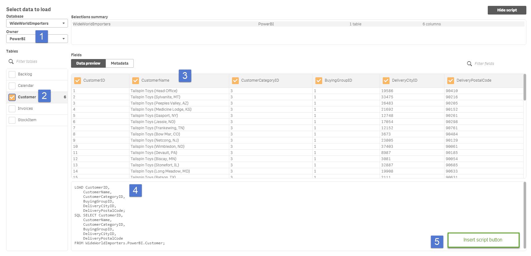 Data Preview Screen in Qlik Sense
