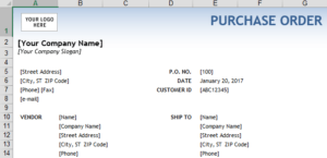 Microsoft Excel Purchase Order - SAP Help