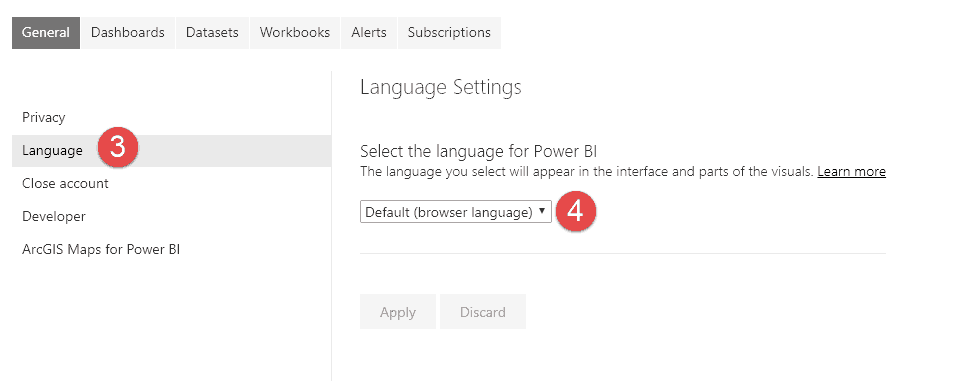 Change Power BI date format locale